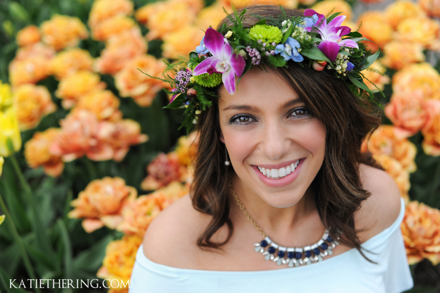 Floral crown with orchids