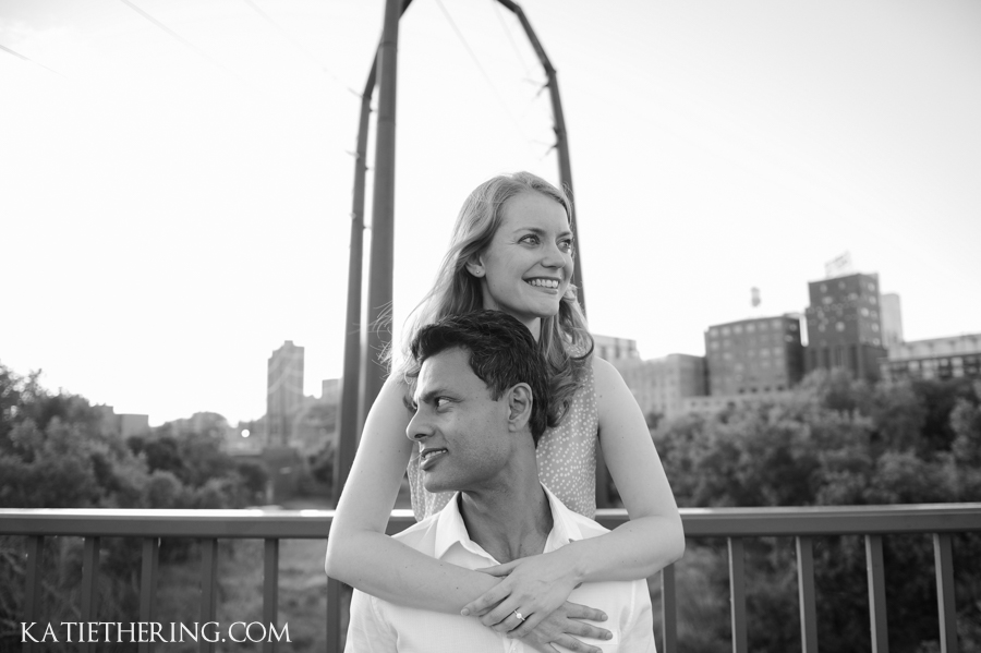 Stone Arch Bridge Engagement Photos
