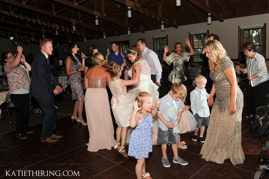 Guests Dancing at Earle Brown Heritage Center Wedding